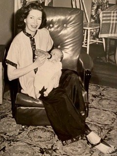 Infant Casey with her mom