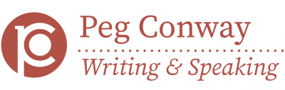 Peg Conway - Writing and Speaking